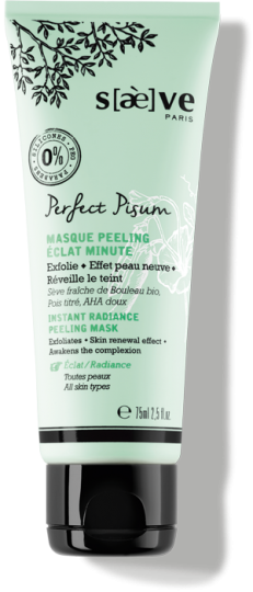 Masque Exfoliant Peeling Eclat Minute Perfect Pisum - Soins Naturels Visage - Saève Paris