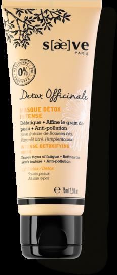 Masque Détox Intense Detox Officinale - Soins Naturels Visage - Saève Paris